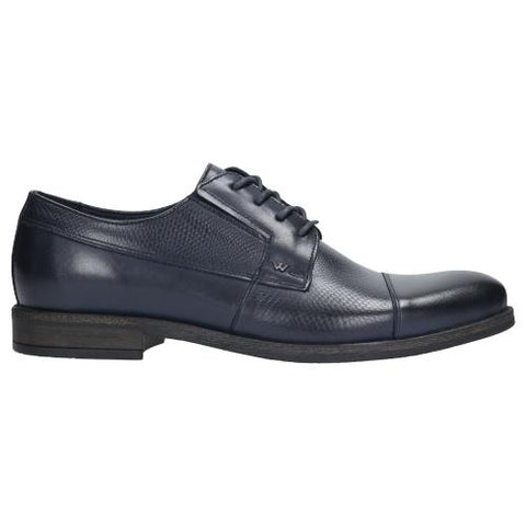 Navy Blue Leather Dress Shoes | 907056