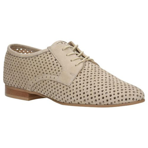 Beige Leather Oxfords | 4600324