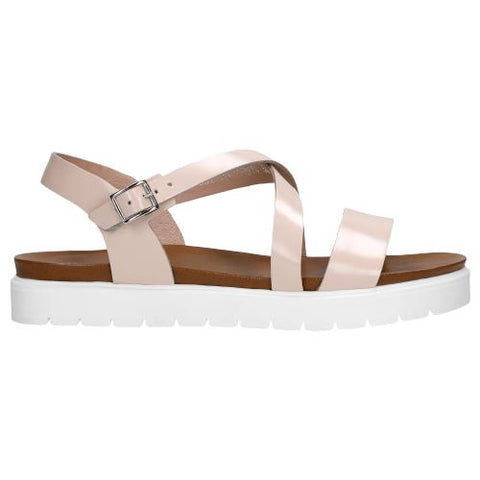 Light Pink Leather Sandals | 7601454