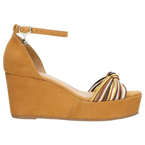 Light Brown Leather Sandals Wedges | 7602563
