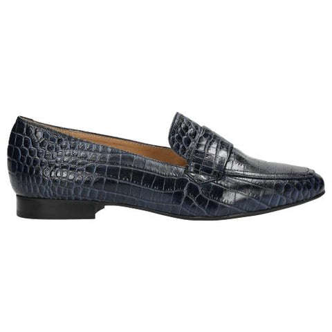Navy Blue Leather Loafers| 4604856
