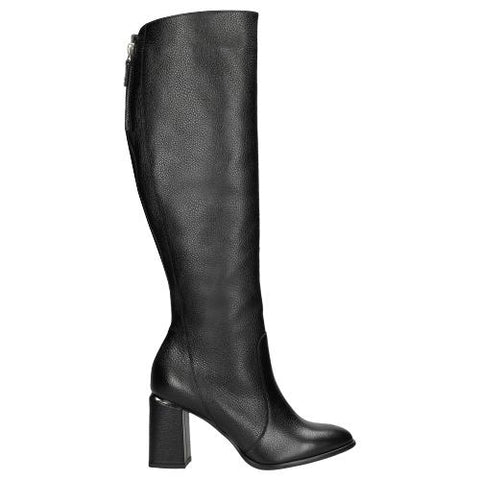 Black Leather Knee High Boots | 7100451