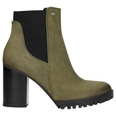 Green Leather Ankle Boots | 5509587