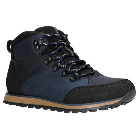 Navy Blue Leather Ankle Boots | 6401686
