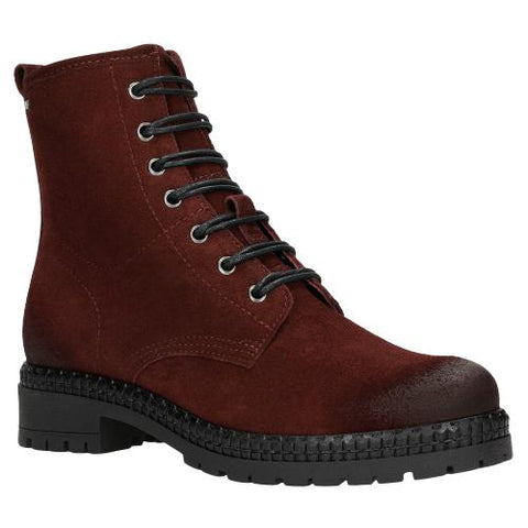 Dark Red Leather Ankle Boots | 6400465