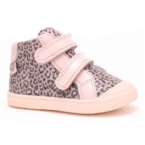 Light Pink Leopard Leather Sneakers | 1384-RAS