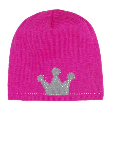 Pink Beanie with Gray Crown Print | 38/020