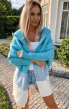 Multicolor Knitted Hooded Cardigan | LINDA