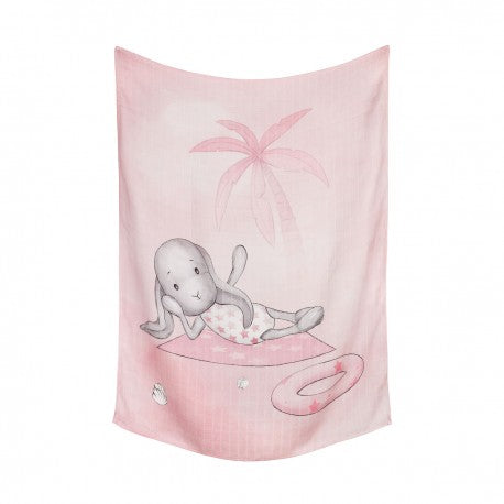 Pink Bamboo Swaddle Effik Beach Girl | OB70P