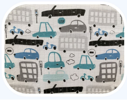 "Cars Pattern Cotton Baby Swaddle ""Pielucha"" 
