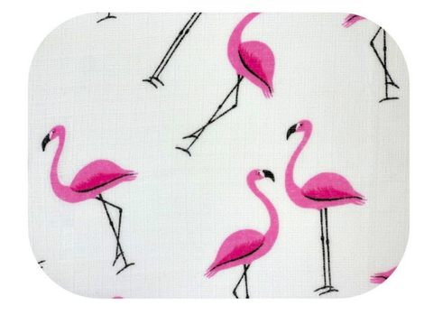 "Flamingo Pattern Cotton Baby Swaddle ""Pielucha"" 