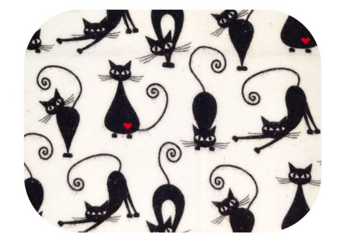 "Black Cats Pattern Cotton Baby Swaddle ""Pielucha"" 