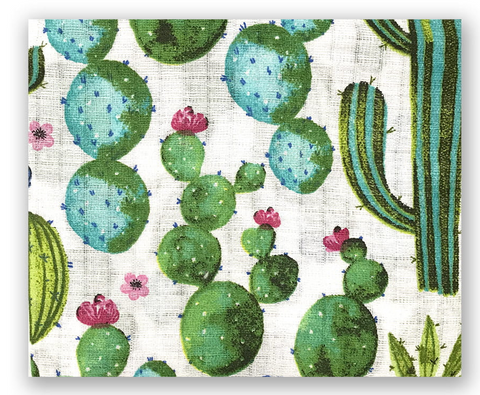 "Cactus Pattern Cotton Baby Swaddle ""Pielucha"" 