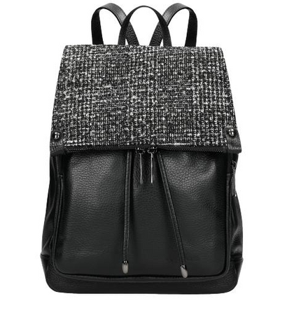 Black Leather Backpack | 8007381