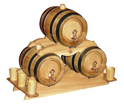 Set of 5 Liters Oak Barrels | GB-012