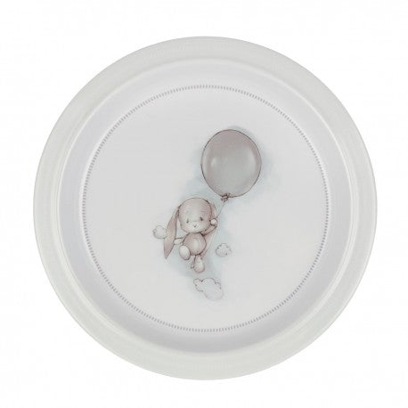 Light Gray Effik Bunny Melamine Plate | TB