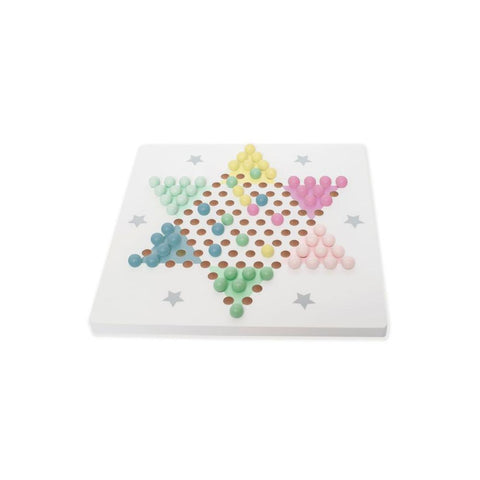 Wooden Chinese Checkers Board Game Set | T255