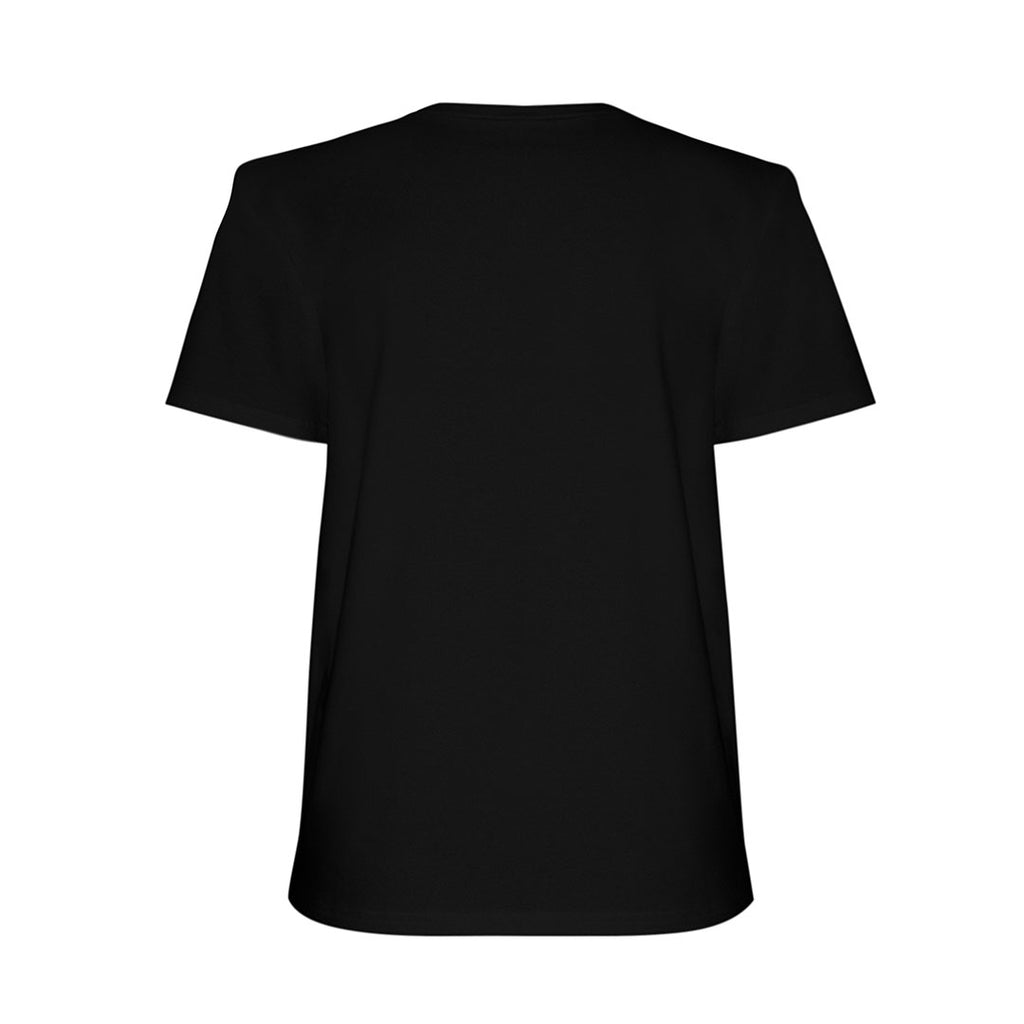 Round-neck graphic T-shirt in soft and durable cotton jersey, with shoulder pads.