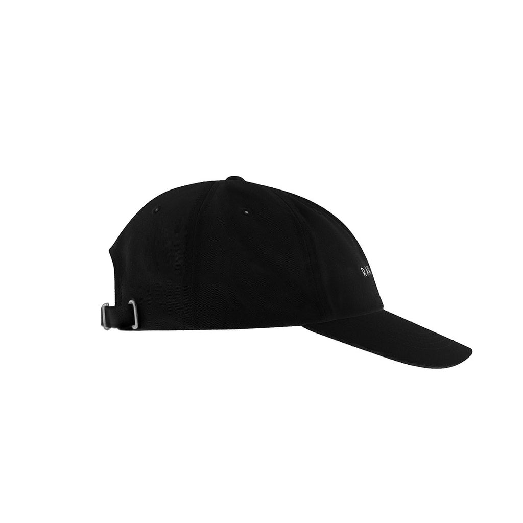 Logo cap with adjustable closure.