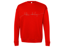 Load image into Gallery viewer, the lake sweatshirt in poppy