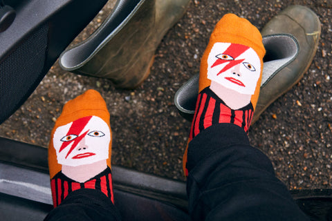 Funny socks inspired by music