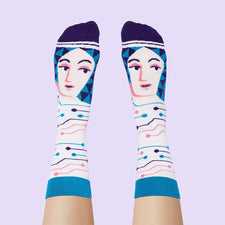 Funny Socks for Women - Mathematician Ada