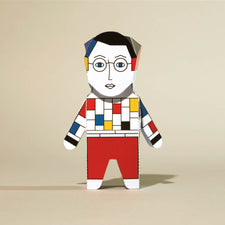 Build your own Mondrian Paper Sculpture