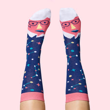 Physicists Fun Gifts - Stephen Toeking Socks