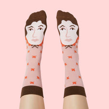 Funny Women Socks - Author Virginia Wool