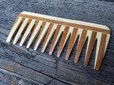Bass Wide Tooth 100% Bamboo Comb