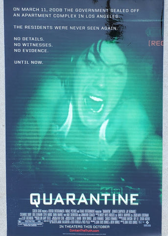 quarantine movie poster 27x40 in stock at pat's garage movies, advertisement, theatre