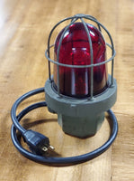 Industrial Red Light with Explosion Proof Cage.
