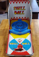 1950s Tin Litho Clown Skill Ball Tabletop Game