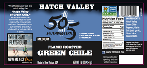 Hatch Valley Roasted Green Chile 16oz - 6 Pack Case