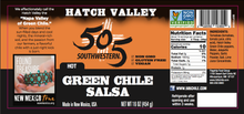 Load image into Gallery viewer, Hatch Valley Green Chile Salsa - 16oz - HOT - 6 Pack Case