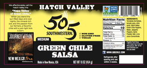 Hatch Valley Green Chile Salsa 16oz - MEDIUM - 6 Pack Case