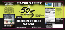 Load image into Gallery viewer, Hatch Valley Green Chile Salsa 16oz - MILD - 6 Pack Case