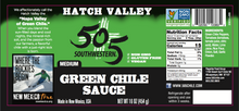 Load image into Gallery viewer, Hatch Valley Green Chile Sauce 16oz - MEDIUM - 6 Pack Case