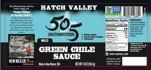 Hatch Valley Green Chile Sauce 16oz - MILD - 6 Pack Case