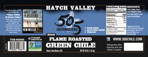 Hatch Valley Roasted Green Chile 40oz - LARGE - 6 Pack Case