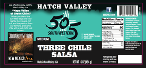 Hatch Valley Three Chile Salsa 16oz - MEDIUM - 6 Pack Case
