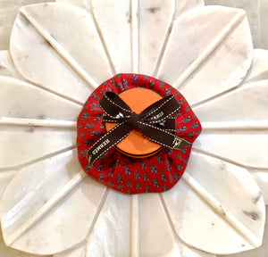 scrunchie red Hermes designer