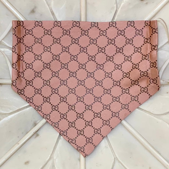 pink Gucci monogram designer face mask