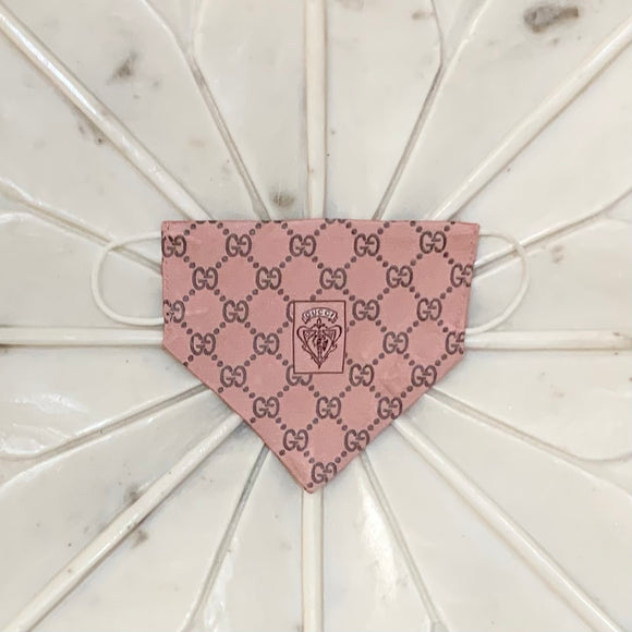 pink Gucci monogram luxury face mask