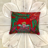 palm trees red Hermes scarf designer sachet
