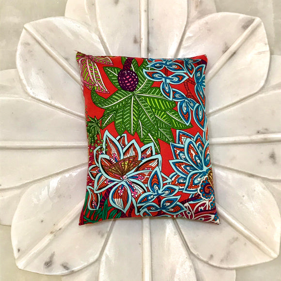 plants colorful Hermes scarf designer sachet