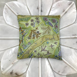 flowers birds green background Hermes scarf designer sachet