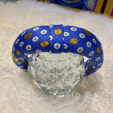 blue buttons Chanel designer head band