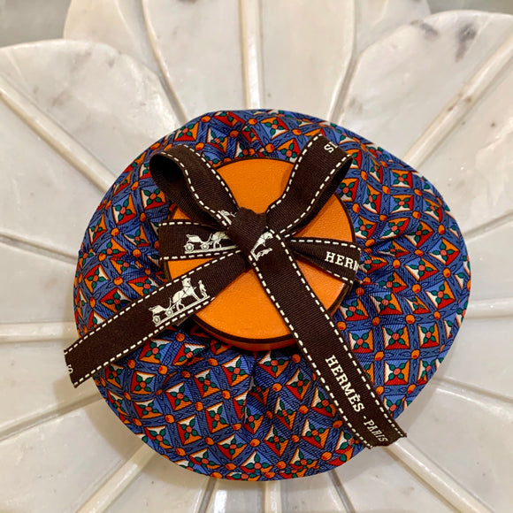 tiles flowers Hermes designer scrunchie luxury