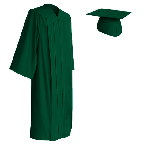 Hunter Green Cap and Gown